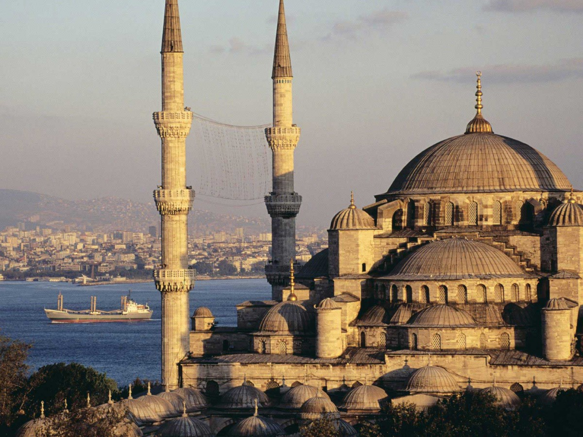 The Sultan Ahmed Mosque in Istanbul.