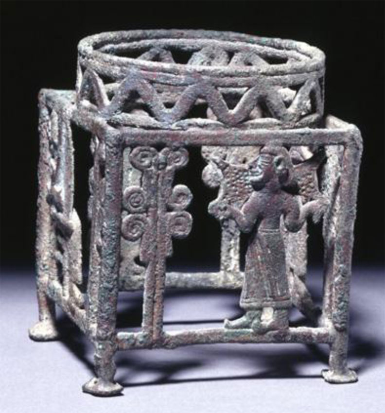 Bronze stand from Koution, 1250-1100 BC (British Museum).