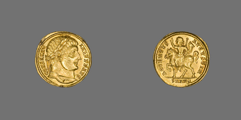 Solidus (Coin) portraying Constantine I, AD 324-325, minted in Antioch. Now in the Art Institute, Chicago. Photo: Art Institute Chicago