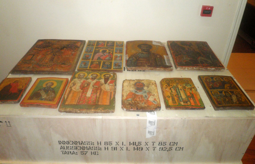 Fig. 10. View of the icons after their repatriation.