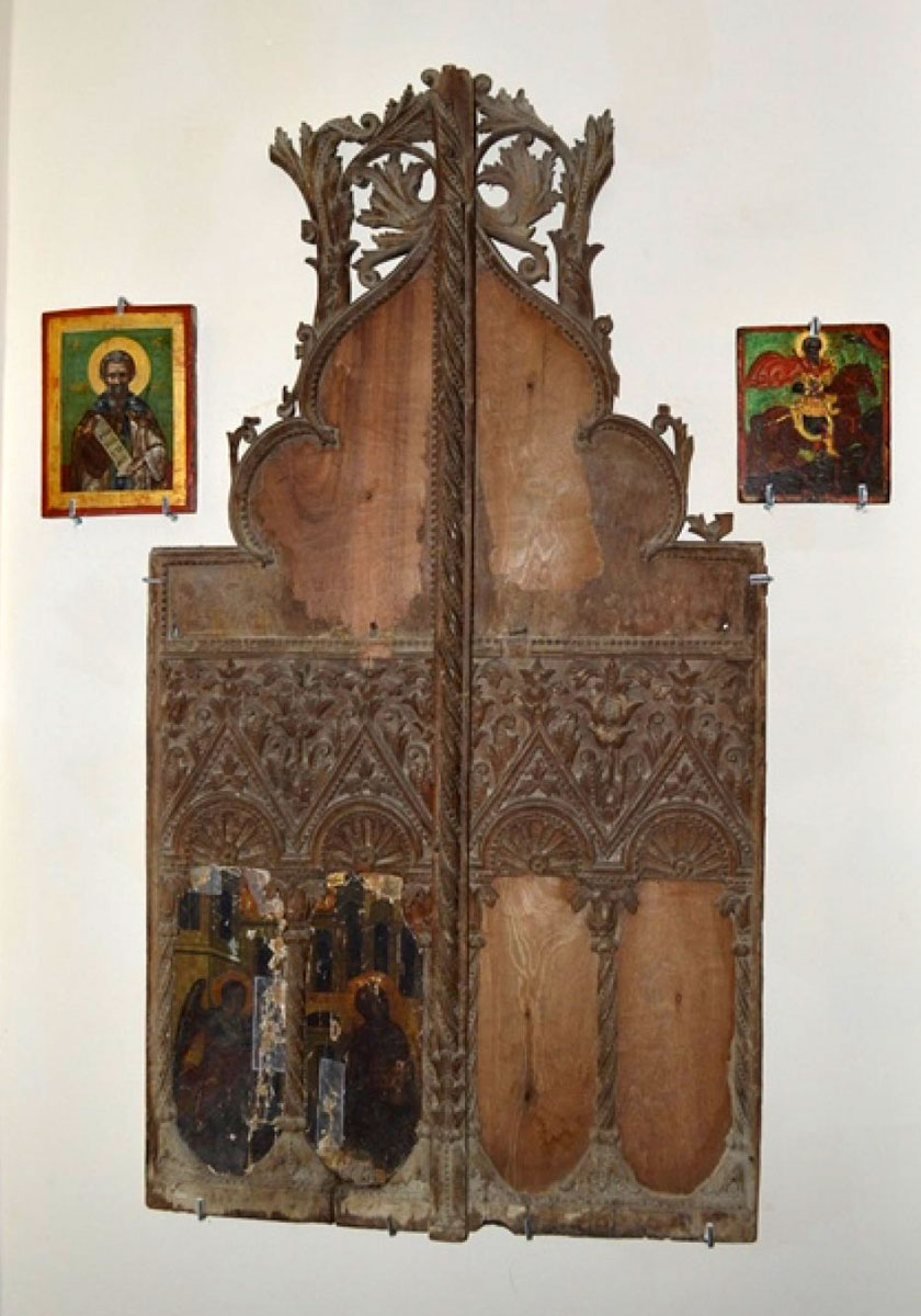Fig. 3. Royal doors from the Monastery of Panagia Tahniou in the Mandres region, Ammochostos/Famagusta, 17th century.