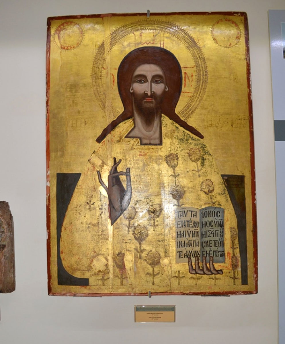 Fig. 6. Christ blessing. Icon from the church of St Theodore in the village of that name in Karpasia, 17th century.