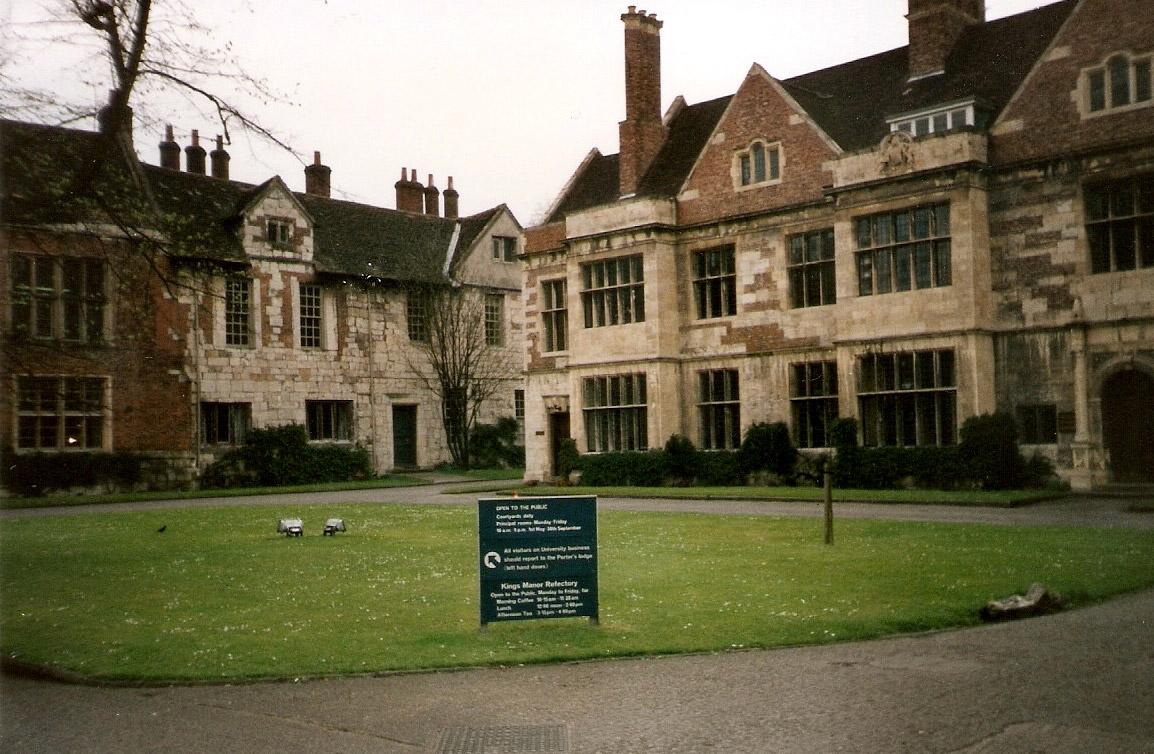 King's Manor Lawn, York, UK.