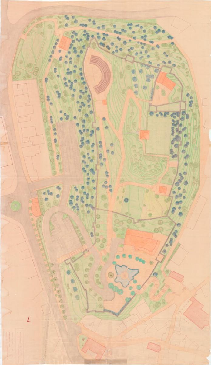 Fig. 5. Sketch of groundplan of castle of Trikala. Source: 19th EBA archives.