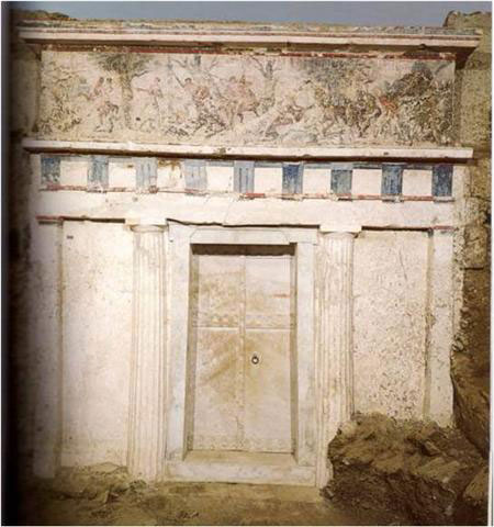The Tomb of Philip in Vergina.