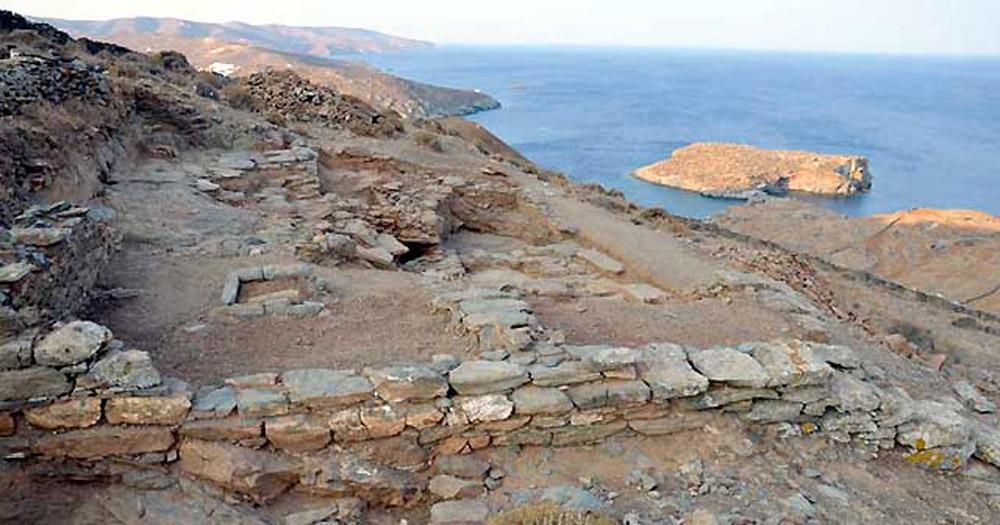 Kythnos, Vryokastro, Building 5 durnig the excavation. Source: University of Thessaly Vryocastro Project website.