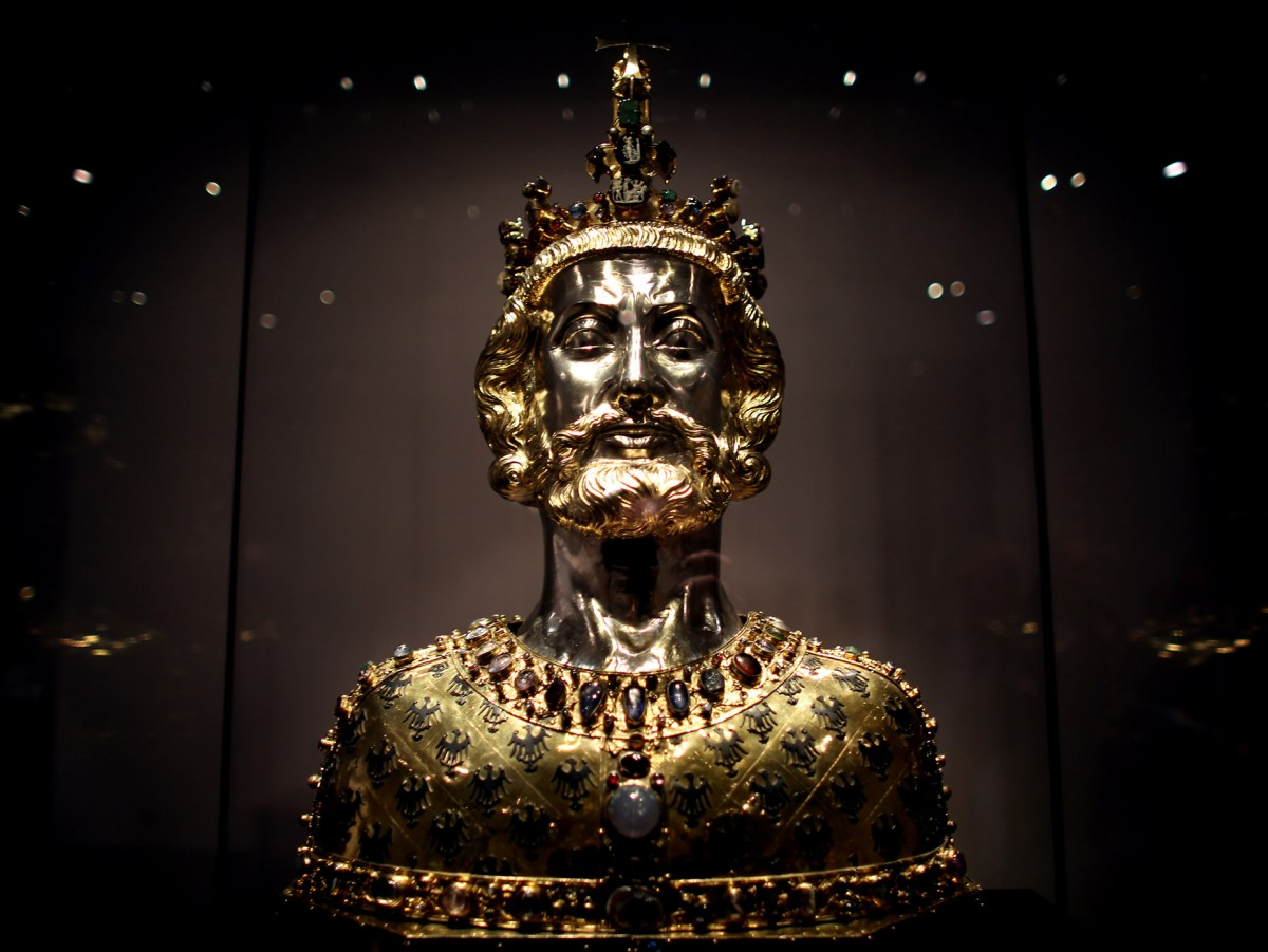 Bust of Charlemagne designed to contain bones of his body. Photo: The Local.