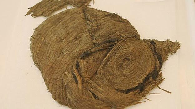Coiled bag found in Dartmoor, UK. Photo: BBC