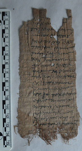The libellus of Aurelius Ammon, c. 250 AD. Probably from Theadelphia Egypt. Luther College, Iowa, USA. Photo: The Decorah Newspaper.