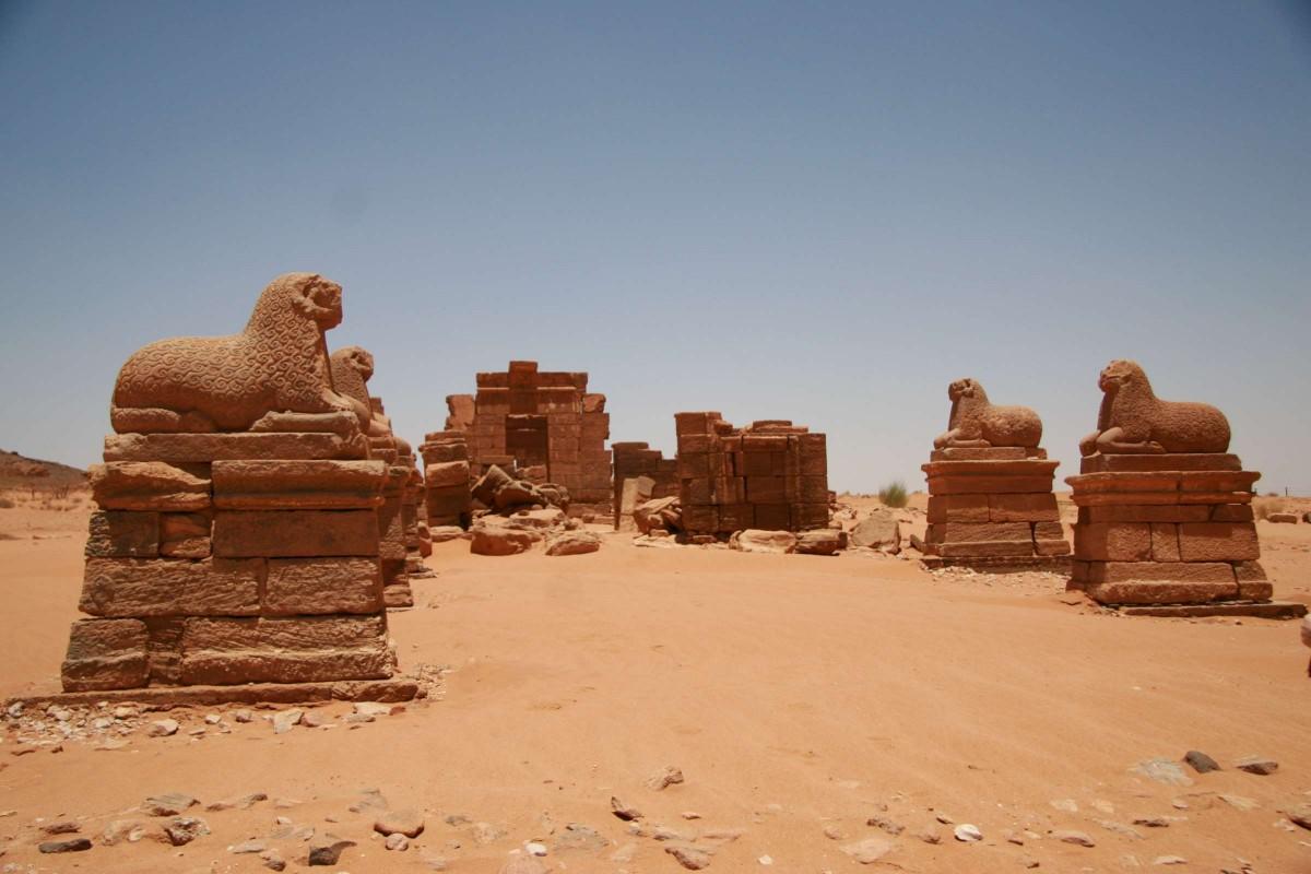 Temple of Amun at Naqa, Nubia (North Sudan), c.1-20 AD. Photo: Wikimedia Commons.