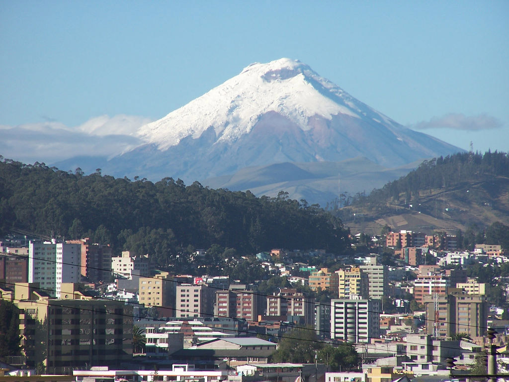 View of Quito.
