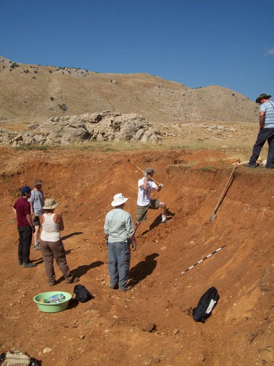 Archaeological survey in south coastal Turkey.