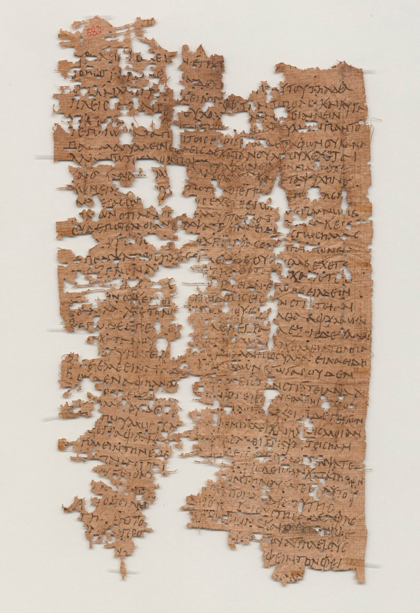 Papyrus inscribed in Greek and containing a letter of a soldier to his family. Probably from Tebtunis, Egypt, c. 214 AD. Picture: University of California, Berkley's Bancroft Library.