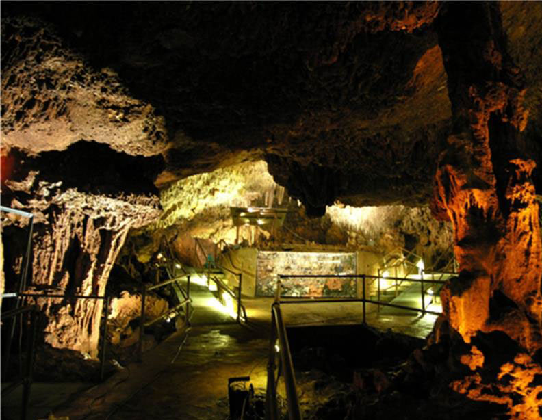 The interior of the Neolithic Alepotrypa Cave (Diros, Lakonia).