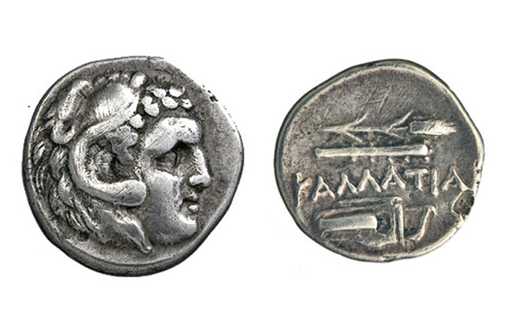 Kallatis (Mangalia), Romania. Silver octobole, 350-281 BC. Alpha Bank Numismatic Collection.