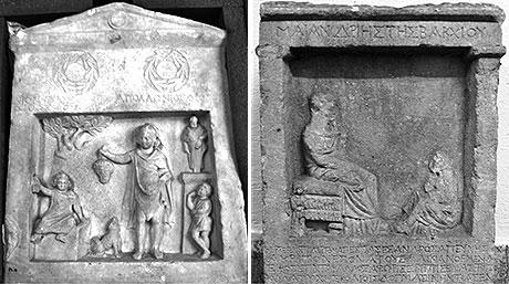 Tombstones from Smyrna and Kyzikos. (Photo: University of Gothenburg)