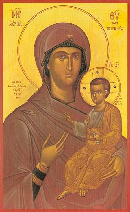 "Fig. 10. Fotis Kondoglou, ""The Virgin"". Monastery of Osios Gregorios, Mount Athos."