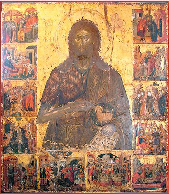 "Fig. 2. Emmanuel Tzanes, ""St John the Baptist"". Metropolis of St John the Baptist, Kranidi in Argolida."