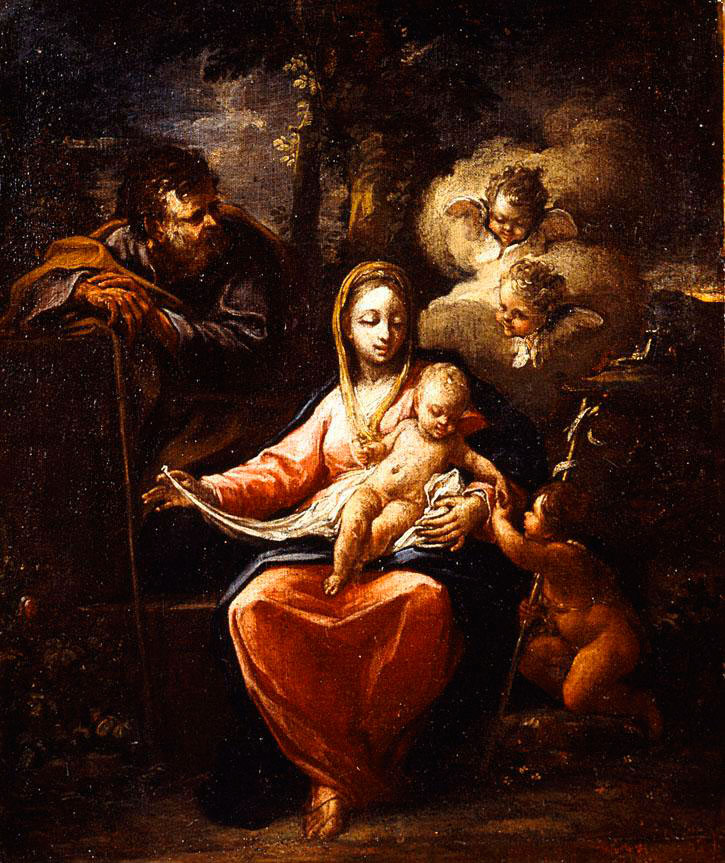 "Fig. 6. Panagiotis Doxaras, ""The Holy Family"", 1700. The National Gallery, Athens."