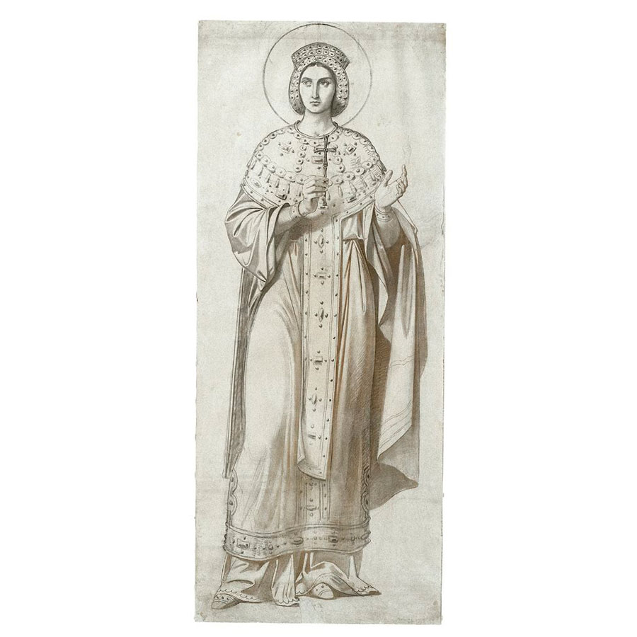 "Fig. 9. Ludwig Thiersch, ""Female Saint"", 19th century. Byzantine and Christian Museum, Athens."