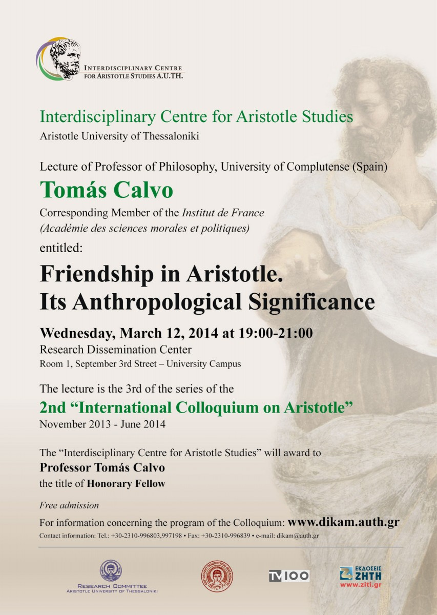 Poster of the lecture.