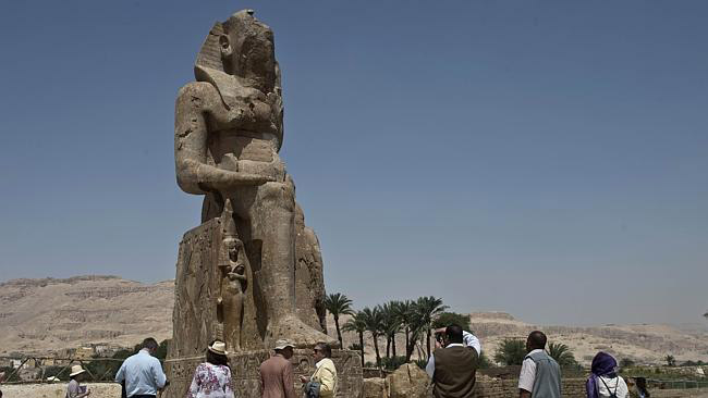 To raise a king. Amenhotep III as depicted in newly found and restored statue from Kom el Hetan. Photo: Khaled Desouki.