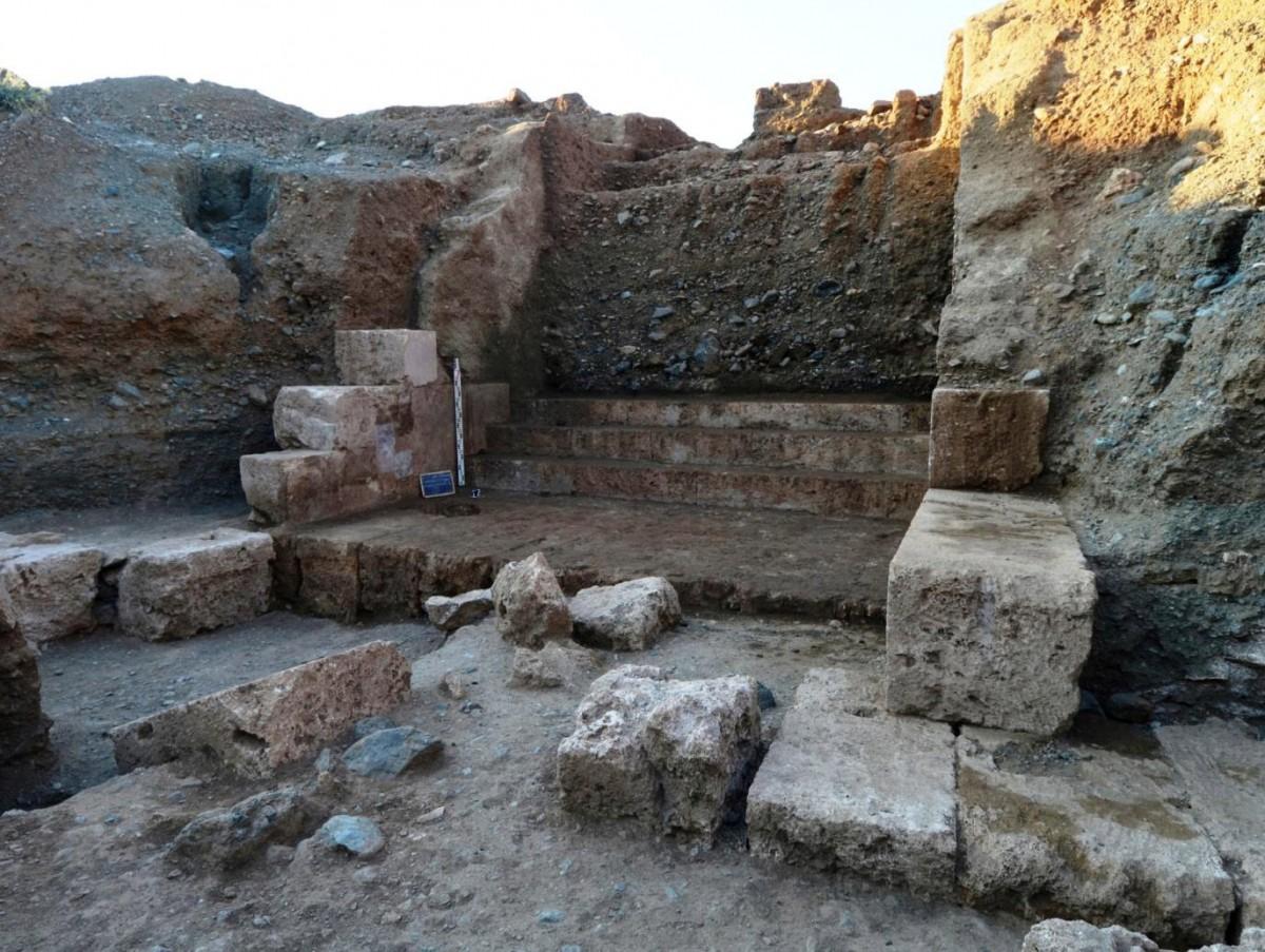 Remains of a monumental tomb (interior). Vergina (Aigai), central Macedonia, Greece.