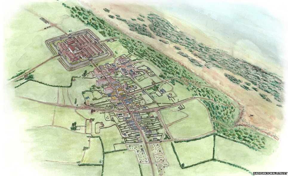 An artistic depiction of how the Meryport site would look during the Roman era. Image: Hadrian's Wall Trust.
