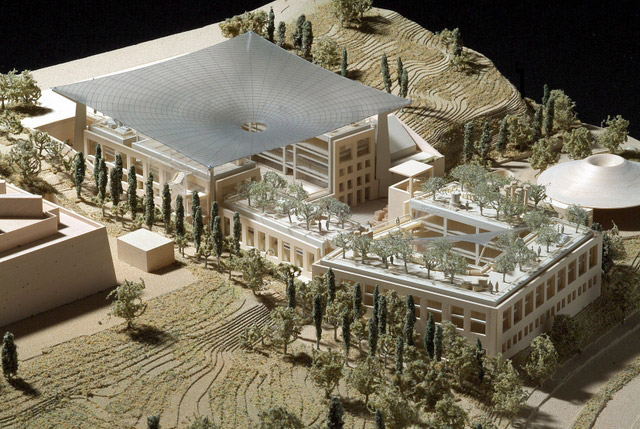 The Mandel National Library and National Archives for the Archaeology of Israel to be part of the new Israel Antiquities Authority Campus in Jerusalem (March 2014). Imaging: Safdie Architects, Courtesy of the Israel Antiquities Authority