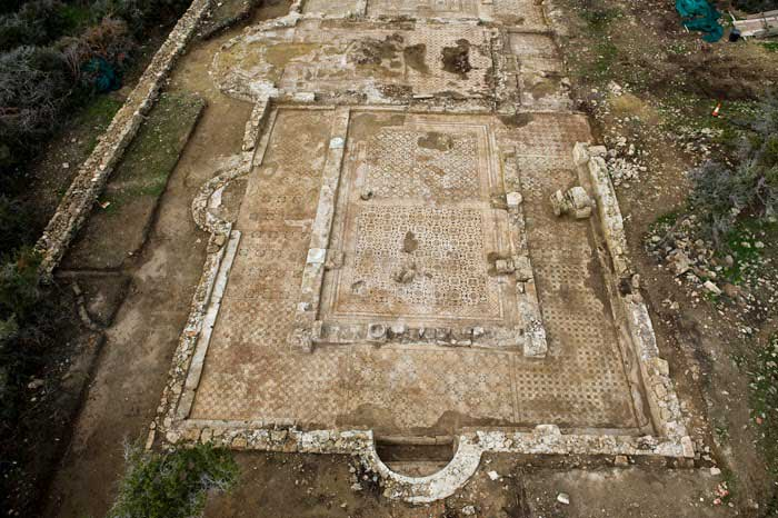 The south transept of the first basilica excavated at Katalymmata ton Plakoton [Credit: Cyprus Dept. of Antiquities].