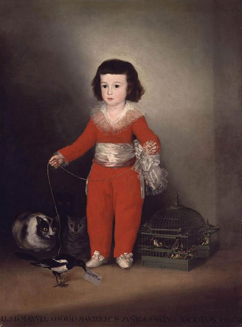 Fig. 1. Goya (Francisco de Goya y Lucientes) (Spanish, 1746–1828). Manuel Osorio Manrique de Zuñiga (1784–1792), 1787–88. Oil on canvas; 50x40 in. (127x101.6 cm). The Metropolitan Museum of Art, New York, The Jules Bache Collection, 1949 (49.7.41).