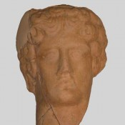 Head of a male figurine