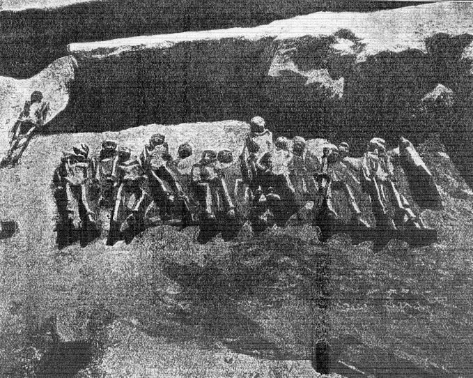 "Fig. 3.  The ""shackled men"" of Faleron. (Πελεκίδης 1916, pp. 13-64)"