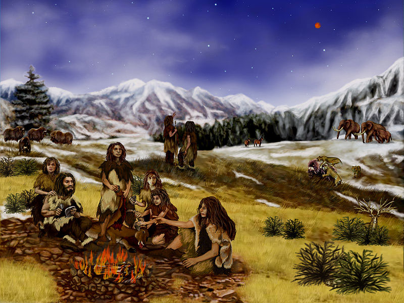 A family of Neanderthals. Artist: Randii Oliver (Source: Wikipedia)