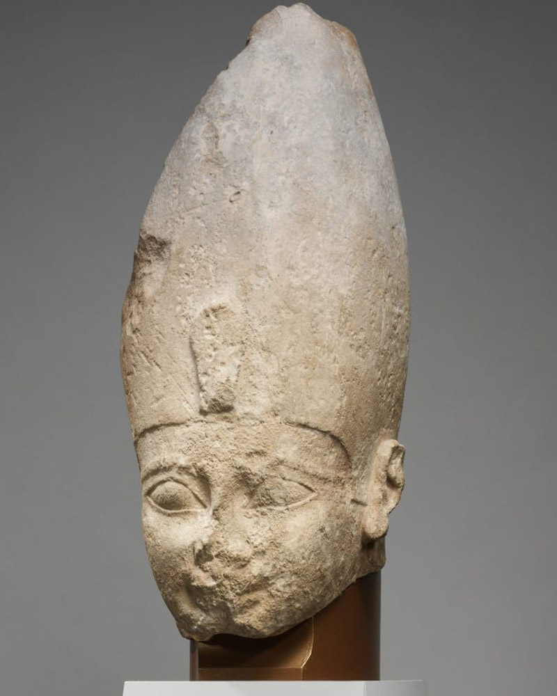 Head of Ahmose I. 18th Dynasty, Metropolitan Museum of Art, New York. Photo: MMA