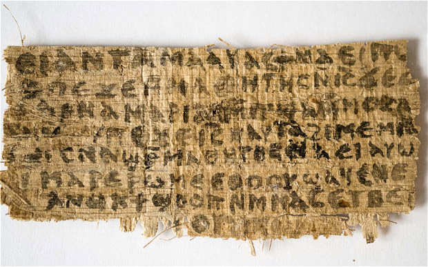 A fragment of papyrus mentioning in Coptic