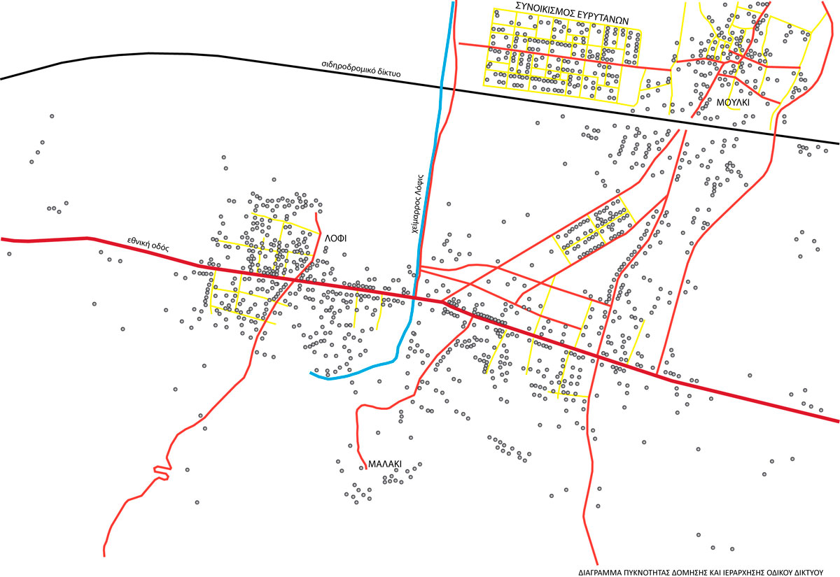 Fig. 1. Plan of building density and order of network of roads (personal archive).