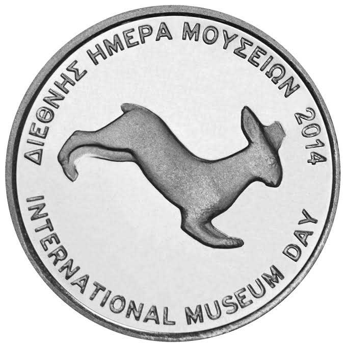 The commemorative medal dedicated to the hare of the Acropolis. (Source: Acropolis Museum)