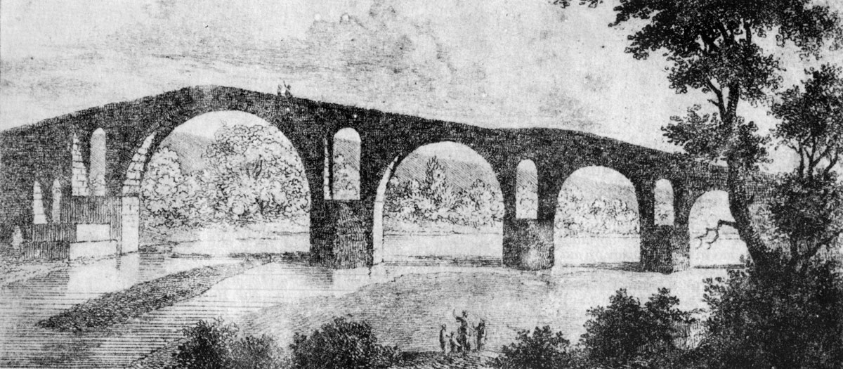 Fig. 10. The bridge of Arta in an engraving by W. Turner (1820).