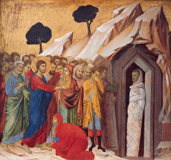 The Raising of Lazarus, Duccio (1260-1318), ca. 1310-1311. Kimbell Art Museum.