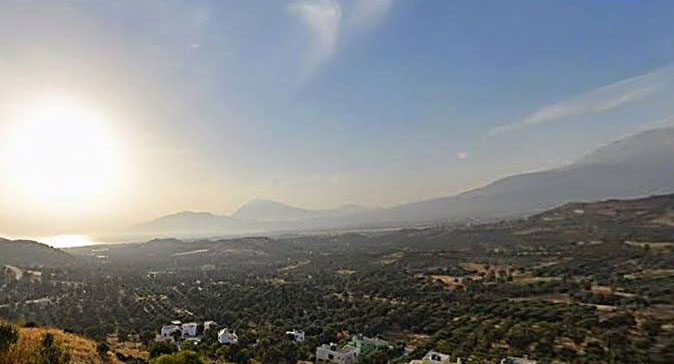 View of the Messara plain.