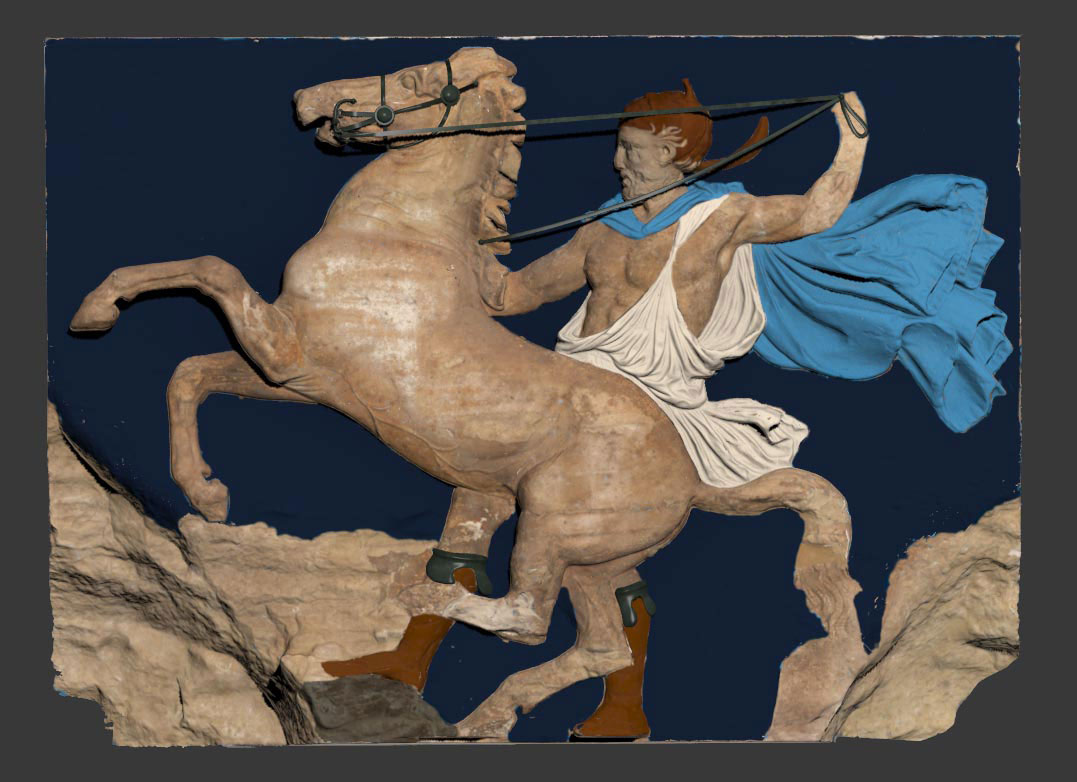 3D digital images of the horse riders of the west Parthenon frieze. (© Acropolis Museum)