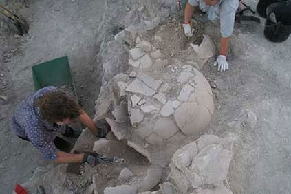 View of the excavations at the site Mouttes of Alampra. Source: Kathimerini