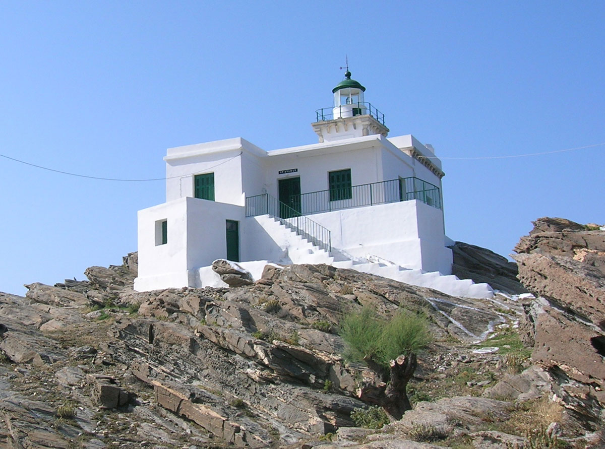 Fig. 5. Korakas on Paros. It first operated in 1887, since 1986 it is powered by electricity and the machinery running on petrol was replaced. It functions on the monitoring system.
