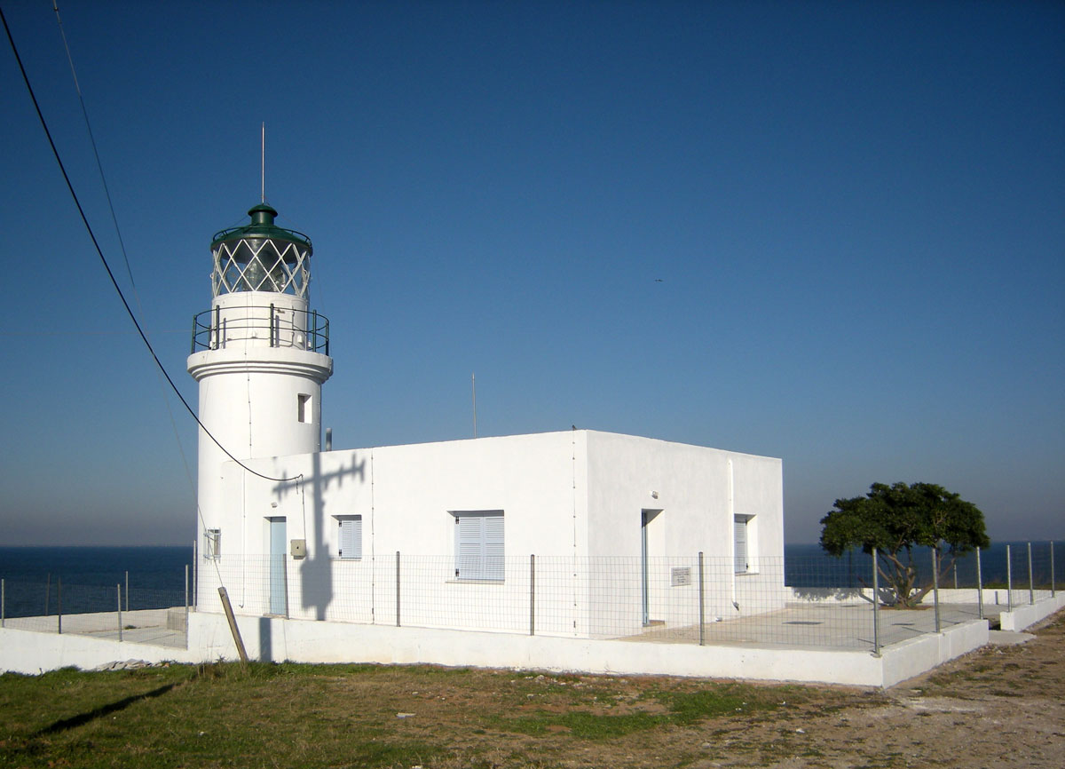Fig. 7. Megalo Emvolo in Mechaliona. First operated in 1864 when the region was part of the Ottoman Empire. The lighthouse had a special system of acoustic signals (bouroudes) in case of fog.