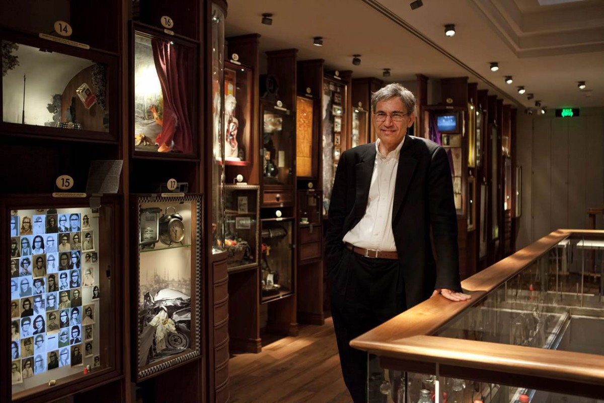 Orhan Pamuk in the Museum of Innocence, Istanbul, Turkey.