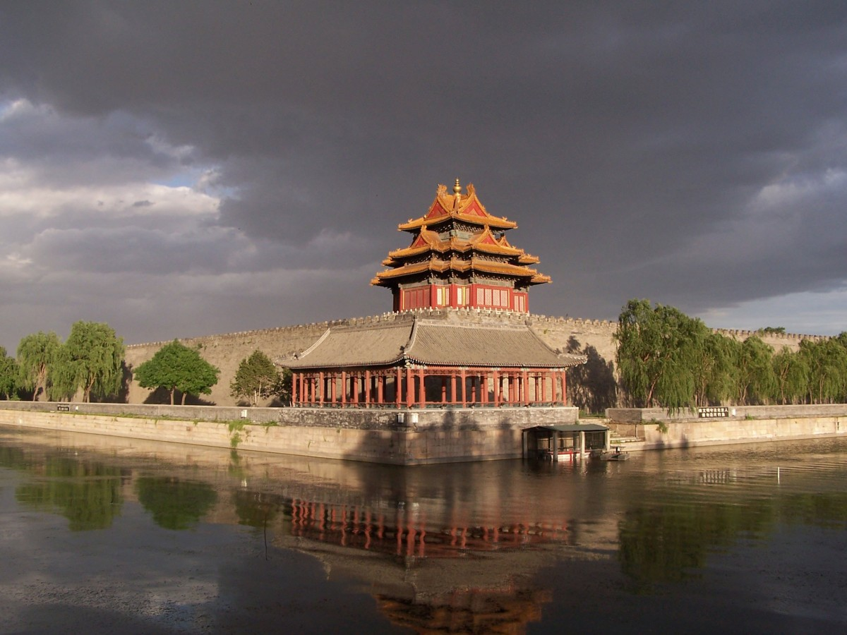 Νorthwest cornor of the Forbidden City.