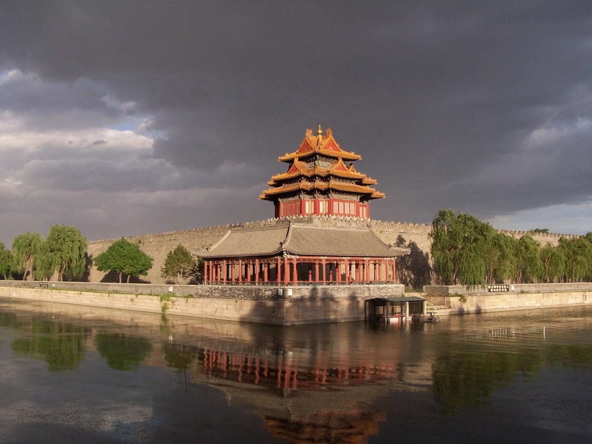 Νorthwest cornor of the Forbidden City.