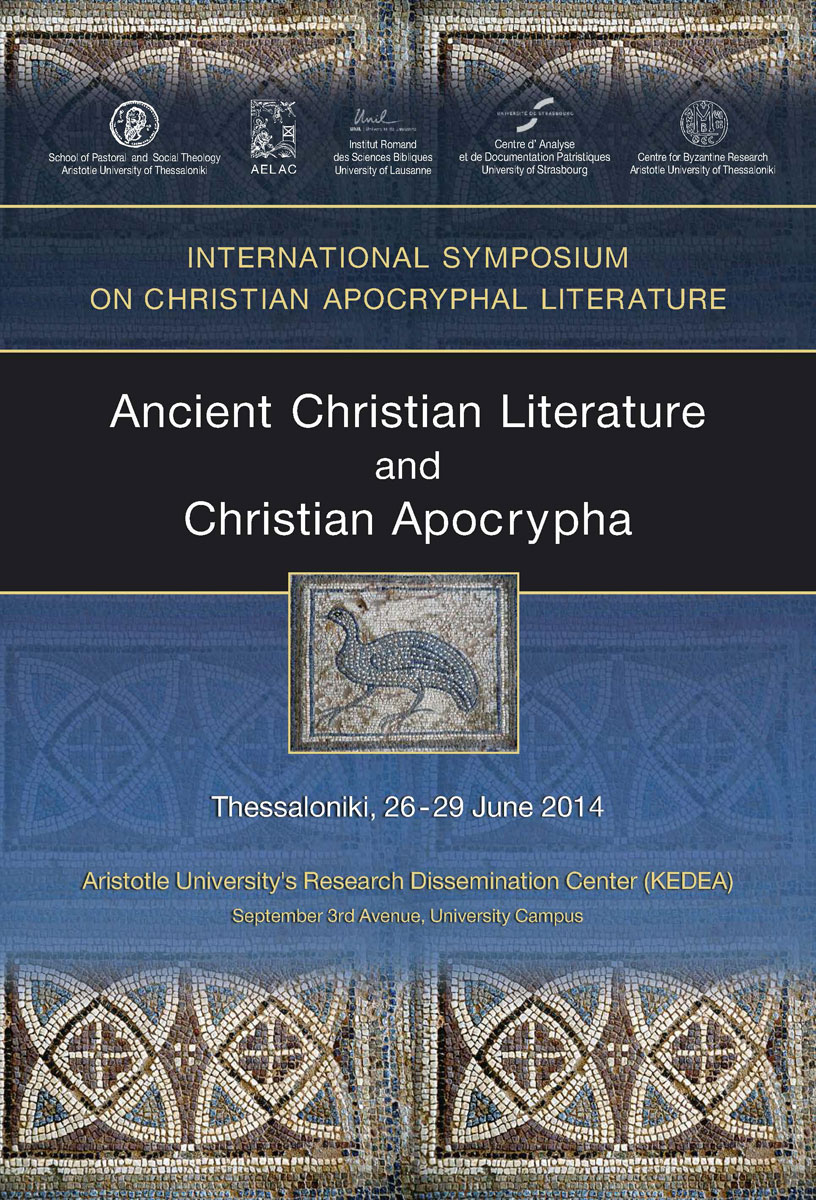 The International Symposium on Christian apocryphal literature will focus on the place that the Christian apocryphal texts occupy within the reservoir of ancient Christian literature.