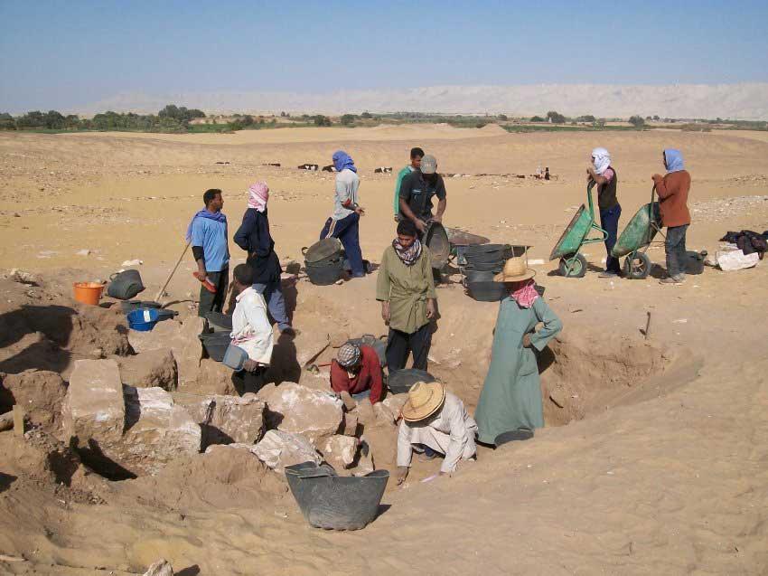 Excavations in Amheida, in the Dakhleh Oasis. Image: Der Spiegel